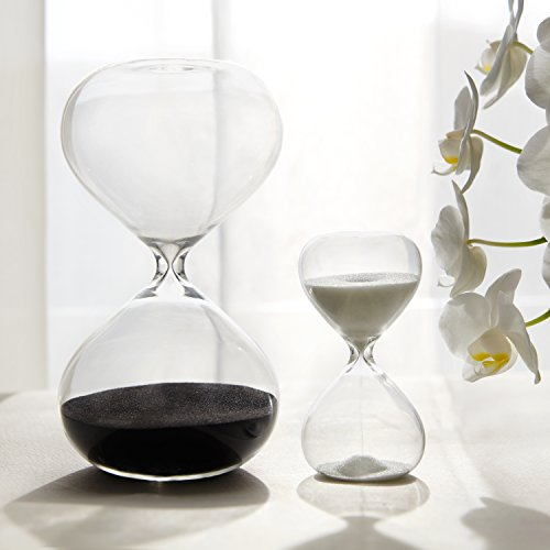 30-5-Minute-Gravity-Hourglasses-Time-Management-Set-Deep-Black-Snow-White