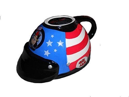Betty Boop Ceramic Motorcycle Helmet Latte Coffee Mug Cup