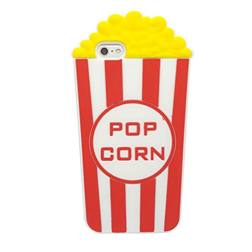 Popcorn for iPhone 6 / 6S Case, XINSIR Cute 3D Cartoon PoP corn Soft Silicone Case Rubber Back Cover Skin for Apple iPhone 6s (Red)