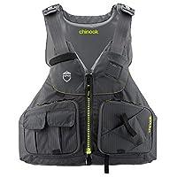 Nrs Chinook Fishing Pfd Life Jacket Charcoal L/XL
