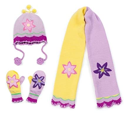 Kidorable Hat,Scarf and Mitten Set (Small Mitten/Glove, Butterfly)