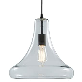 Allen roth aged bronze pendant light with clear glass shade for Allen roth bathroom light fixtures bronze