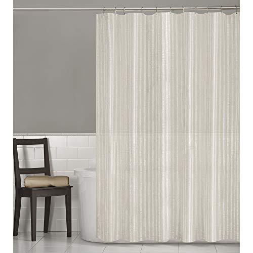 (MAYTEX Linen Stripe, Shower Curtain,)