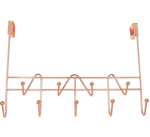 Superbpag Over the Door Hooks Rack Organizer for Hanging Coats, Hats, Robes, Clothes or Towels - 9 - Rose Hook