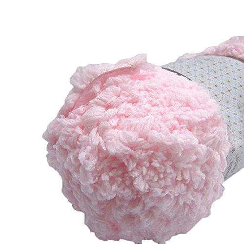 Wool Yarn Craft (Baby Warm Soft Chenille Knitting Yarn Ball Wool Craft for Towel Coat Sweater DIY Tool (Pink))