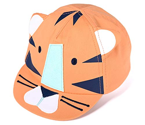 accsa Baby Boy Baseball Cap Novelty Tiger Soft Peak Foldable Age 6-18 Months ()