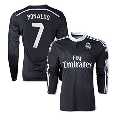 huge discount f7d8e 67b48 Real Madrid Ronaldo #7 Away Long Sleeve Youth Soccer Jersey with Matching  Shorts
