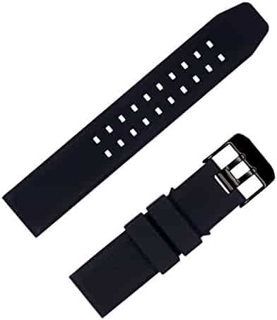 for Luminox 23mm Rubber Silicone Watch Band Strap Replacement with Black Buckle for Casio Timex Seiko Luminox 3050 8800 and 3950 Series - Luminox Watch Band