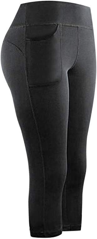 YunZyun Leggings for Women Navy, XL High Waisted Yoga Pants with Pockets Women Stretch Leggings Fitness Running Active Gym Sports