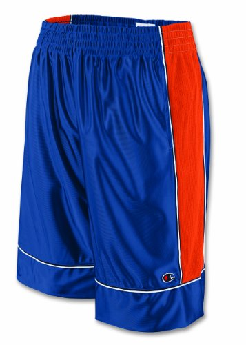 Champion Baseline Basketball Short - X-Large, Navy/Orange