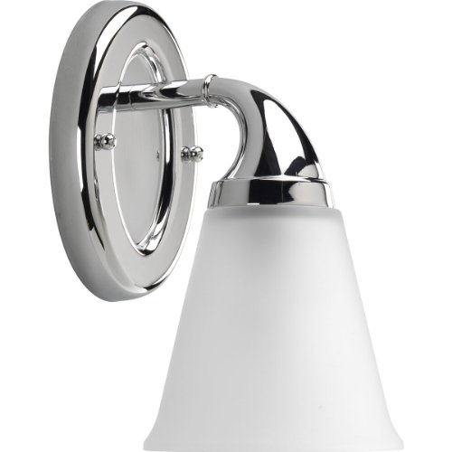 Progress Lighting P2758-15 1-Light Bath Which Mounts Up Or Down, Polished (Chrome Etched Bath)