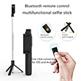 Extendable Bluetooth selfie stick tripod, suitable