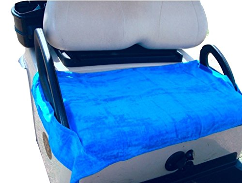 Nif Tee Seat Golf Cart Bench Seat Cover, Made of Soft 100% Cotton Washable Velour Terry Cloth, Fits All Standard Electric Golf Carts, Keeps Golfers Comfortable on the Greens Year Around, (Royal Blue)