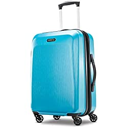 American Tourister Checked-Large, Teal Blue