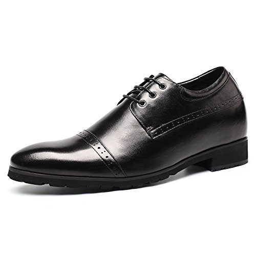 Zapatillas Chamaripa Altura Creciente Zapatos De Cuero Negro Zapatillas Elevadoras 3.94 Taller H62046k011d