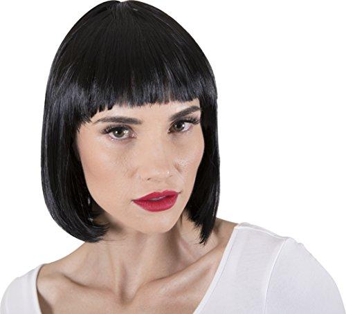 [Kangaroo's Halloween Accessories - Super Model Wig] (Womens Black Super Model Wig Costumes)