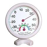 Mini Mexx Mini Round Clock-Shaped Indoor Outdoor Hygrometer Humidity Thermometer Temperature Meter Gauge