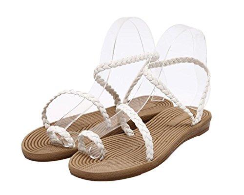 Simples sandalias de las sandalias de punta abierta del clip White