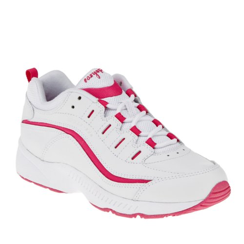 Easy Spirit Women's Romy, White-fuchsia