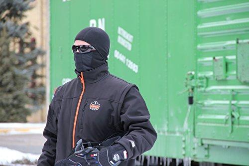 N-Ferno 6823 Thermal Fleece Wind-Resistant Hinged Balaclava, Black