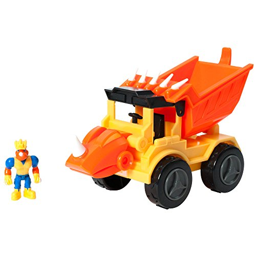 Educational Insights Dino Construction Company Rocko the Styracosaurus Dump Truck