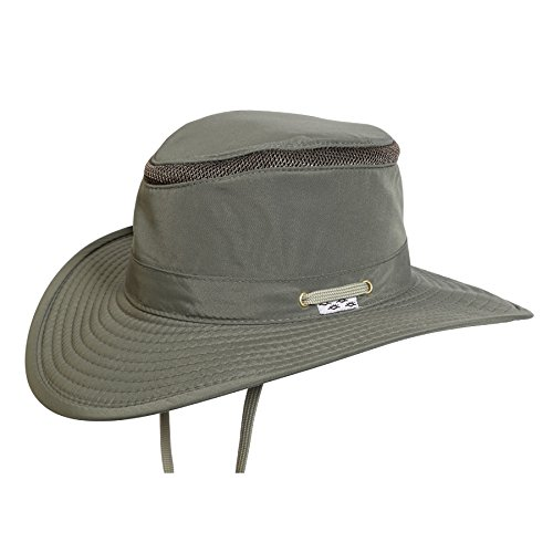 Tarpon Springs Floating Supplex Sailing Hat,Olive,Large