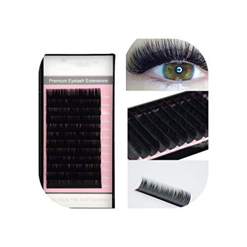 All Sizes False Eyelash Extensions Mink Black Material JBCD Curls 1 Tray/Lot,D,0.25mm,9mm