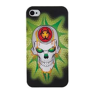 TY- patrón lindo cráneo opaco pulido estuche rígido para iPhone 4 y 4S (multicolor)