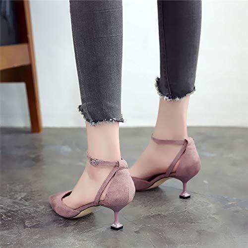 LBTSQ-Spikes Nahen Heels Einzelne Schuhe Witze High Heels Einfache 5Cm Schlank Einfache Heels Katze und Schuh. 8181a4
