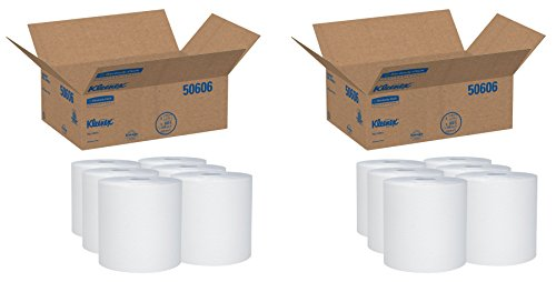 - 50606 Hard Roll Towels, 8 x 600ft, 1 3/4 Core dia (2 Case)