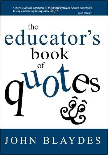 Educator Quotes Interesting The Educator′s Book Of Quotes 48 Economics Books
