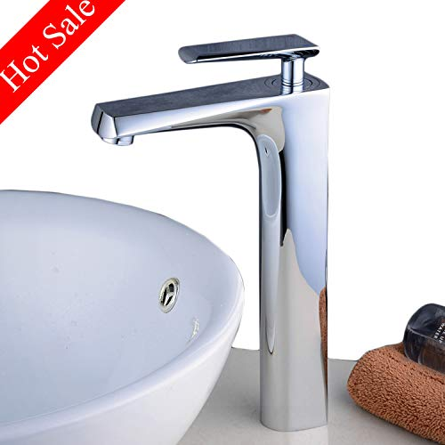 Beelee bathroom faucet for vessel sink,Chrome,single handle,one hole
