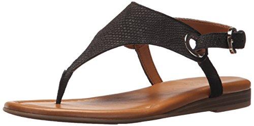 Women's Grip Black Flat Sarto Sandal Franco 4w5ZqF