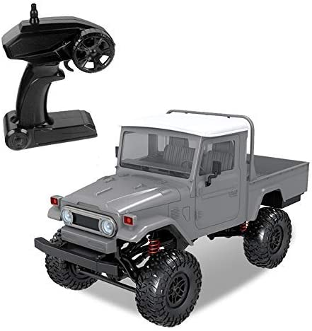 The perseids 1:12 2.4G 4WD RC Car Off-Road High-Speed Vehicle Minitary Truck Climb Rock Crawler Electric Hobby Grade RTR Toy for Kids Over 14 Years Old and Adults,Blue White
