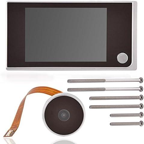 Mini HD Outdoor Viewer、Digital Door Viewer&Doorbell、120度ワイドビューSmart Camera Security Camera Outdoor/Indoor Smart Security Camera、24時間モニタリングオフィスでの車のホームセキュリティ使用