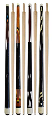 Billiard Depot Set of 4 Carom Cues 56