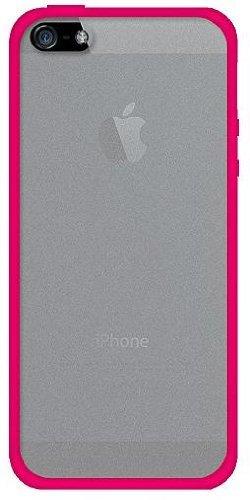 Amzer Hybrid-Schutzhülle aus TPU und Polycarbonat (zum Aufstecken, für iPhone5) klar/ pink