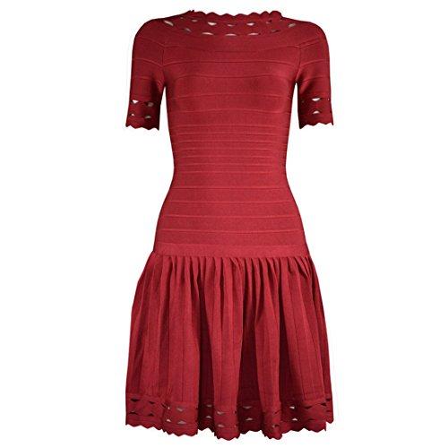 HLBCBG - Vestido - Sin mangas - para mujer Rosso