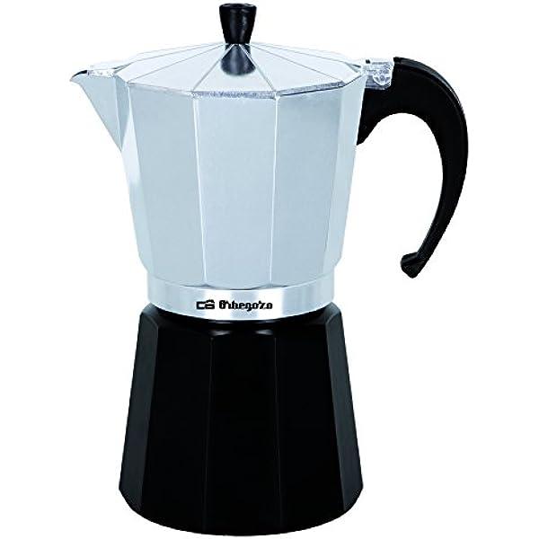 Orbegozo KFM 930 Cafetera, Aluminio, Negro, Plata, 9 Tazas: Amazon ...
