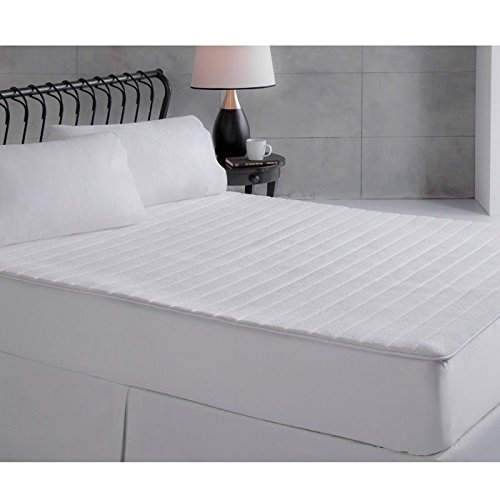 Perfect Fit Ultra Plush Memory Foam Mattress Pad, Queen Size, White Perfect Fit Industries