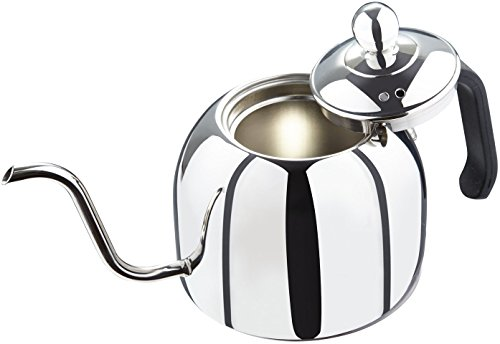 Zell Pour Over Kettle for Coffee and Tea, Premium 18/8 Stainless Steel, Works on Gas or Electric Stovetop, 40