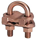 Burndy GAR2026 Mechanical Fence Post Grounding Connector 4 AWG 3'' Pipe 3-1/2'' Rod, Bright Dipped