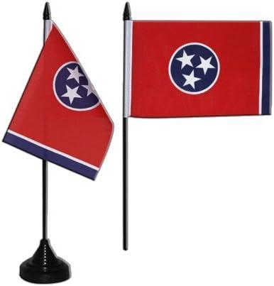 Flaggenfritze/® Tischflagge USA Tennessee 10x15 cm