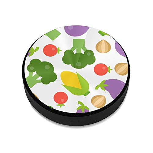 Magnetic Mount,Broccoli Tomato Onion Eggplant and Corn Seamless Pattern Magnetic Car Mount Phone Holder Cell Phone Holder Mount Smartphone Car Mount Holder