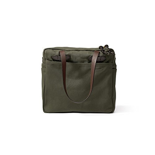 - Filson Women's Rugged Twill Tote Bag with Zipper (Otter Green)