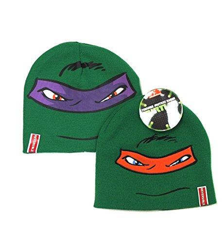 Purple Reversible Knit Beanie - Teenage Mutant Ninja Turtles Knit Hat Reversible Beanie (Orange/Purple)