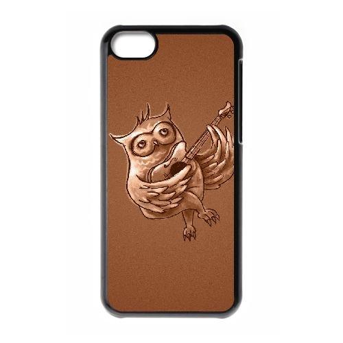 X3L35 hibou chant W6D7BI coque iPhone 5c cellule de cas de téléphone couvercle coque noire FT4RLC0SH