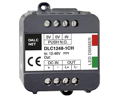 5 opinioni per Kingled- Dalcnet Led Dimmer Singolo Canale DLC1248-1CV Potenza 8A DC 12-48V Made