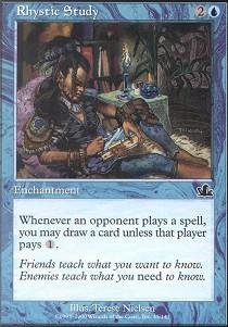 Magic: the Gathering - Rhystic Study - Prophecy Common Enchantment Single Card
