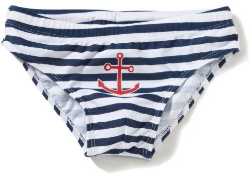 Playshoes Baby - Jungen Schwimmbekleidung, gestreift 460114 Badehose Maritim von Playshoes mit UV-Schutz nach Standard 801 und Oeko-Tex Standard 100, Gr. 86/92, Mehrfarbig (900 original)